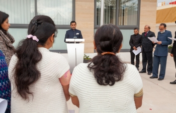 High Commissioner reading the Republic Day message of Hon'ble President of India
