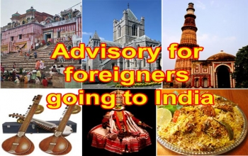 Advisory for foreigners going to India