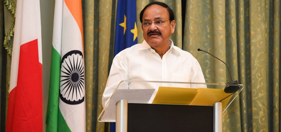 H. E. Vice President Shri M. Venkaiah Naidu delivers his address at the India-Malta Business Forum