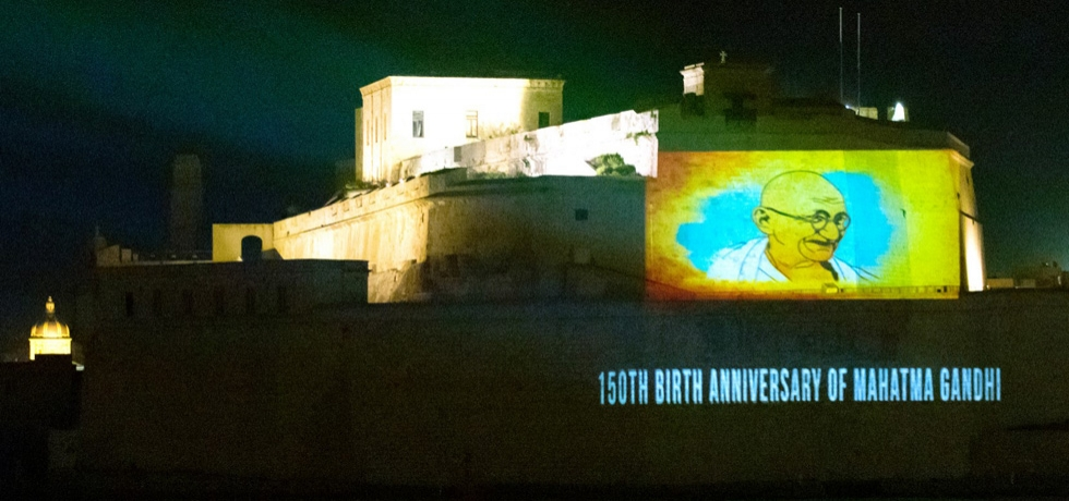 Celebrations of 150th Birth Anniversary Year of Mahatma Gandhi in Malta