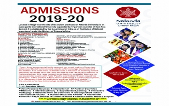 Application for pursuing Two Years Master's Programme in Nalanda University