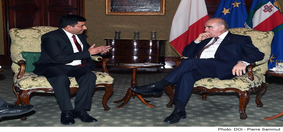 High Commissioner Shri Rajesh Vaishnaw meeting H. E. President of Malta Dr. George Vella