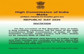Flag Hoisting Ceremony on the occasion of the Republic Day of India