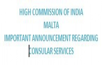 IMPORTANT ANNOUNCEMENT REGARDING CONSULAR SERVICES