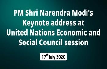 Hon'ble Prime Minister Shri Narendra Modi's keynote address at United Nations Economic and Social Council session