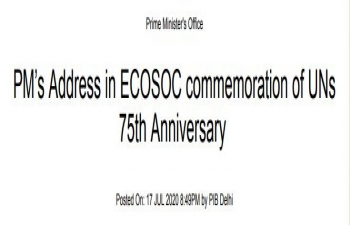 Hon'ble Prime Minister's keynote address to ECOSOC