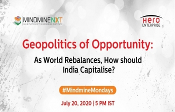 "Hon'ble External Affairs Minister Dr. S. Jaishankar at the 11th edition of 'Mindmine Mondays' - a conversation with Prof C Raja Mohan titled ""Geopolitics of Opportunity:As World Rebalances, How should India Capitalise?"""