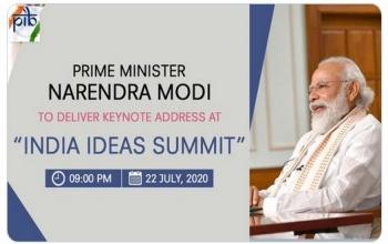 """Hon'ble Prime Minister Shri Narendra Modi delivers Keynote Address at """"India Ideas Summit"""""""