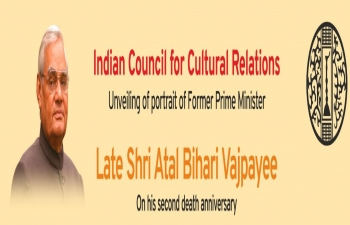 Unveiling of Portrait of Shri Atal Bihari Vajpayee ji at Indian Council for Cultural Relations Headquarters